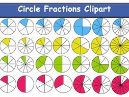 Fractions clipart. Circle fraction by stamama