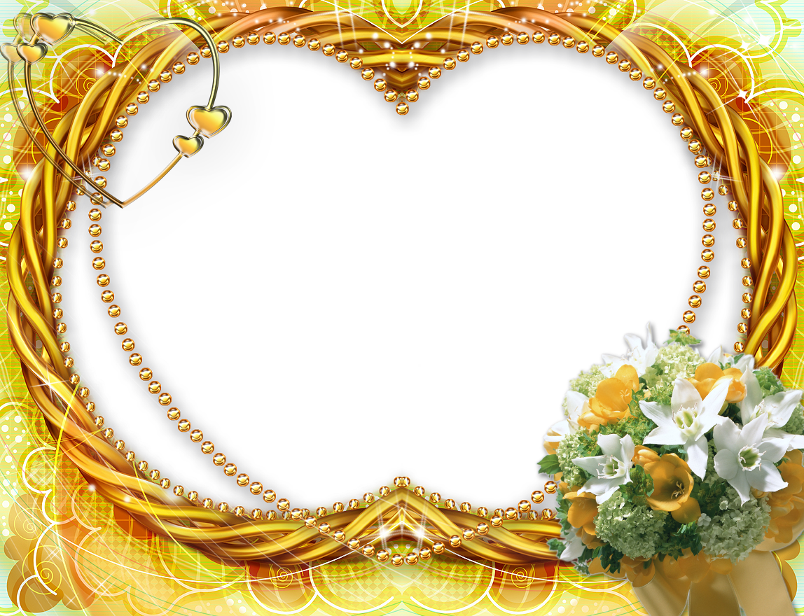 Frame background png. Yellow flower transparent gallery