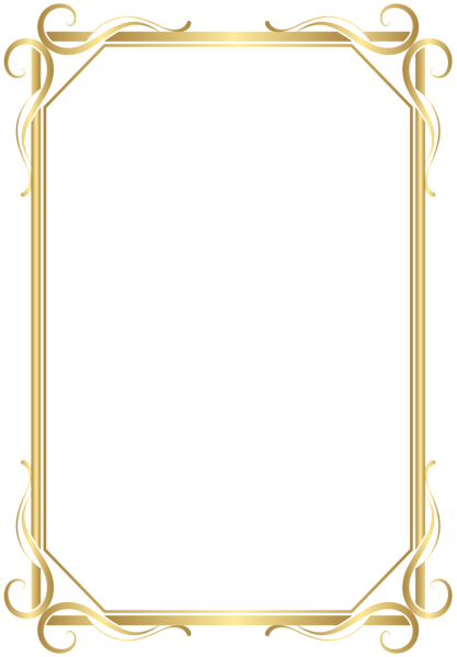 Frame border png. Transparent gold image pinterest