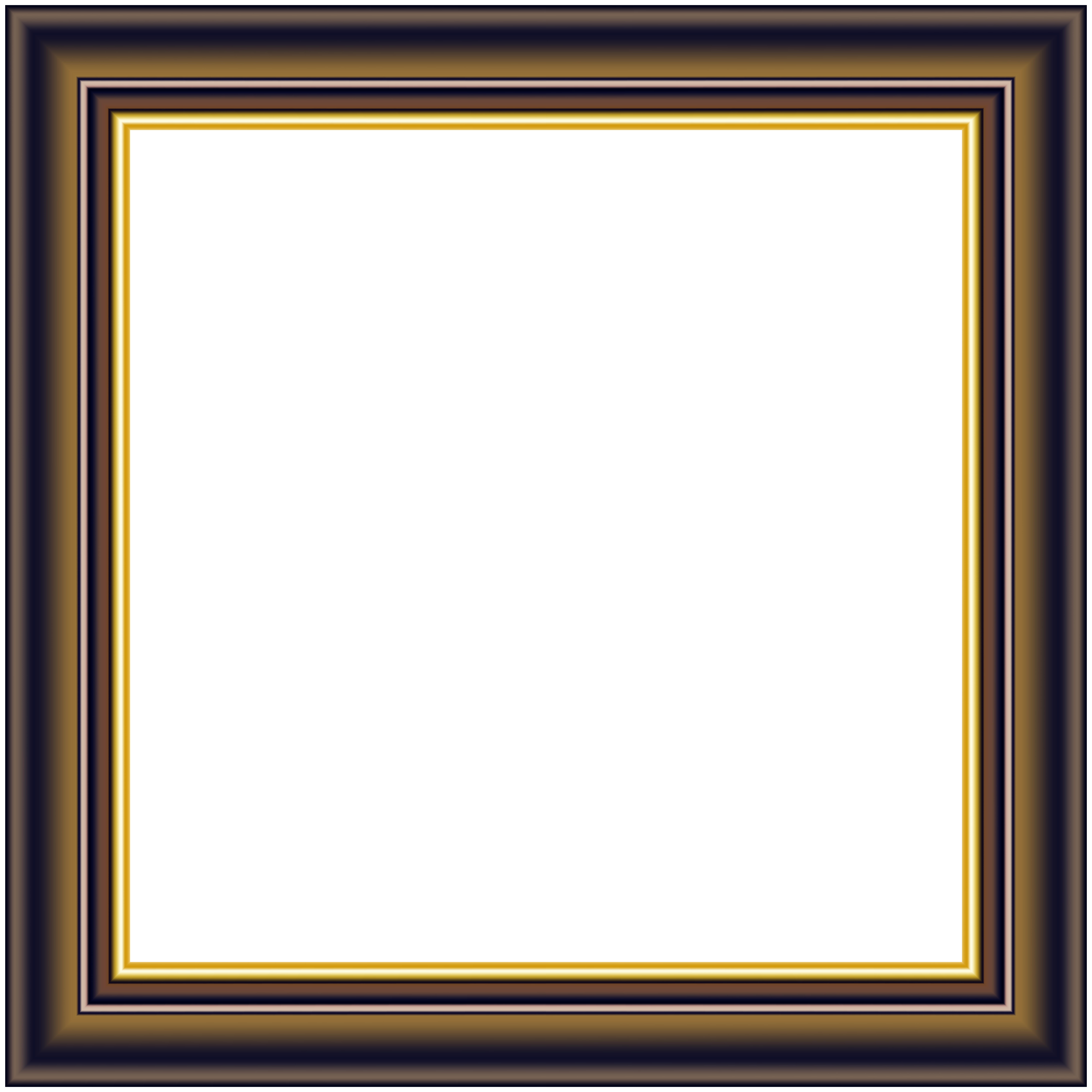 Frame clip. Brown gold deco png