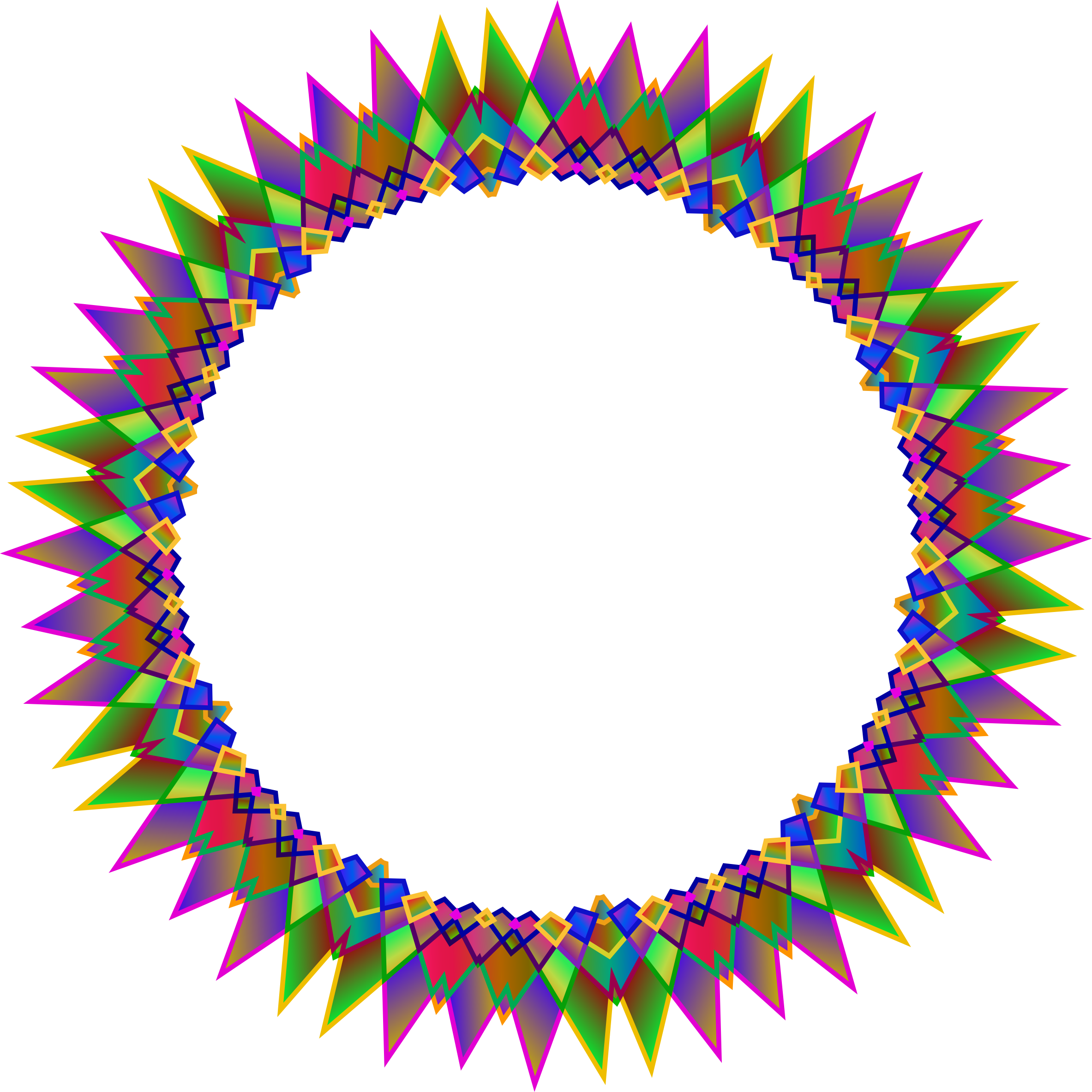 Frame clip string. Clipart prismatic multipoint star
