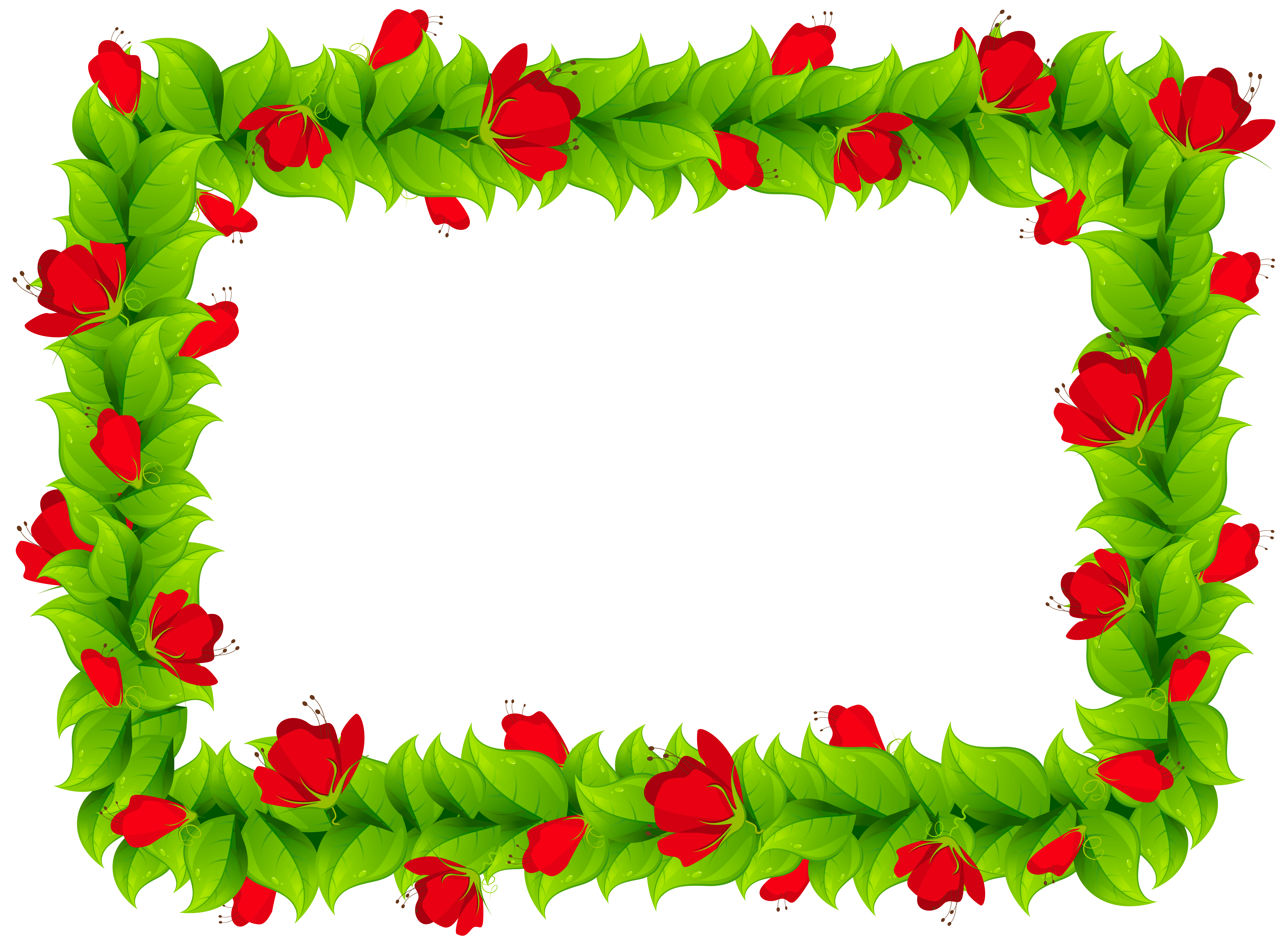 Floral frame image gallery. Border clipart png png black and white download