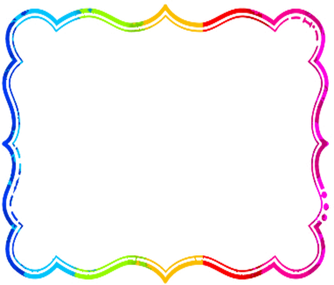 Rainbow . Frame clipart clip royalty free download