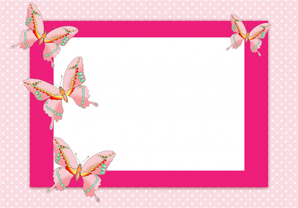 Frame clipart butterfly. Border clip art free