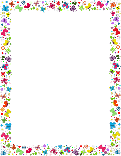 A border featuring butterflies. Frame clipart butterfly vector black and white download