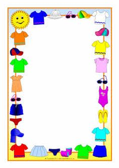 Frame clipart clothes. Winter a page borders