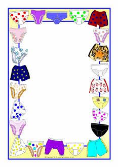 Themed a page borders. Frame clipart clothes clip art