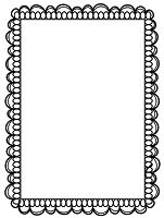 Frame clipart doodle. Double page border free