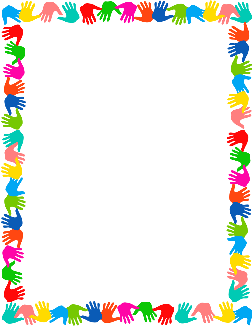 Hands on border mod. Frame clipart hand png stock