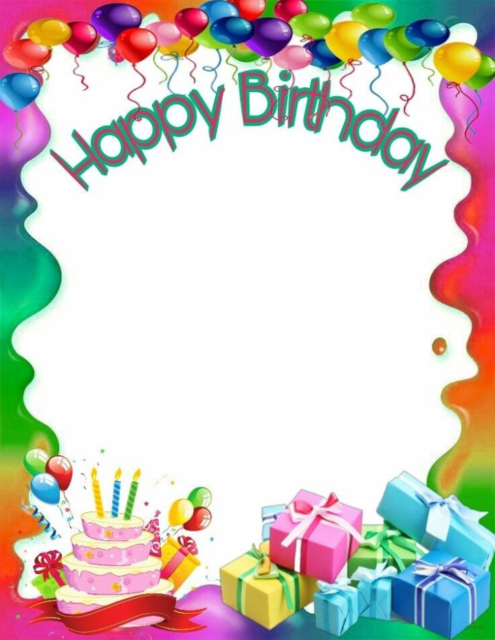Frame clipart happy birthday. Frameswall co best images