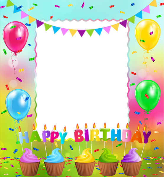 Png gallery yopriceville high. Frame clipart happy birthday picture royalty free library