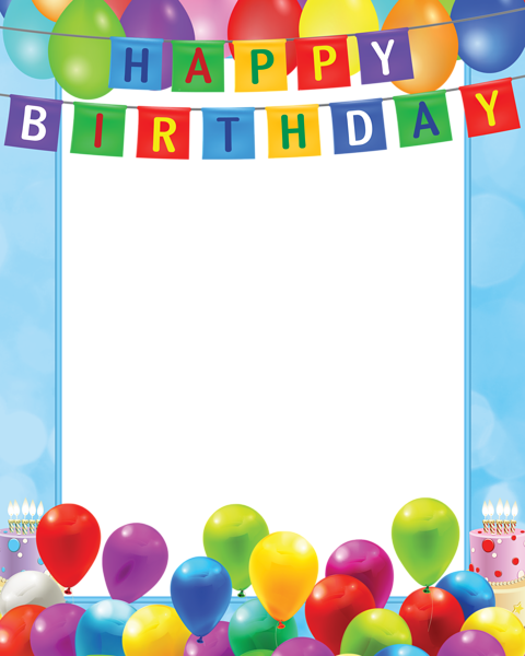 Happy birthday frames and borders png. Pin by sandra bester