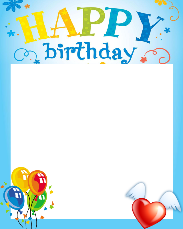 Frame clipart happy birthday. Free frames group with