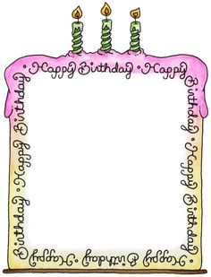 Frame clipart happy birthday. For no reason let