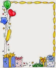 Transparent png with balloons. Frame clipart happy birthday clip art library library