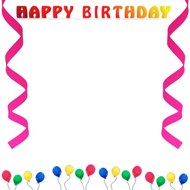 Border clip art free. Frame clipart happy birthday black and white download