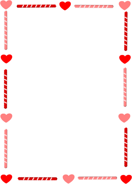 Borders drawing valentines day. Free heart border download
