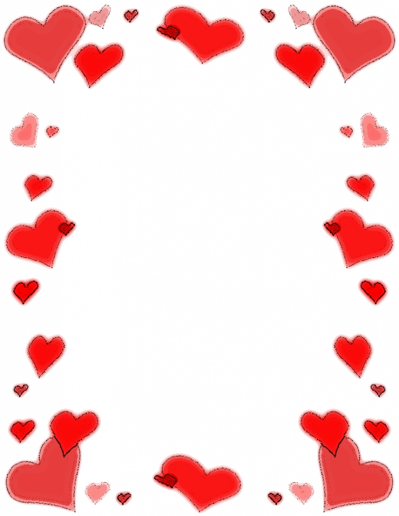 Picture frames collection made. Frame clipart heart graphic free stock