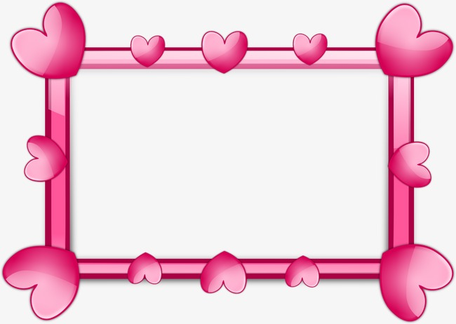 Frame clipart heart. Pink mosaic border png