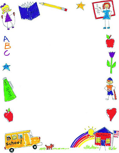 Borders for word printable. Frame clipart preschool clipart black and white
