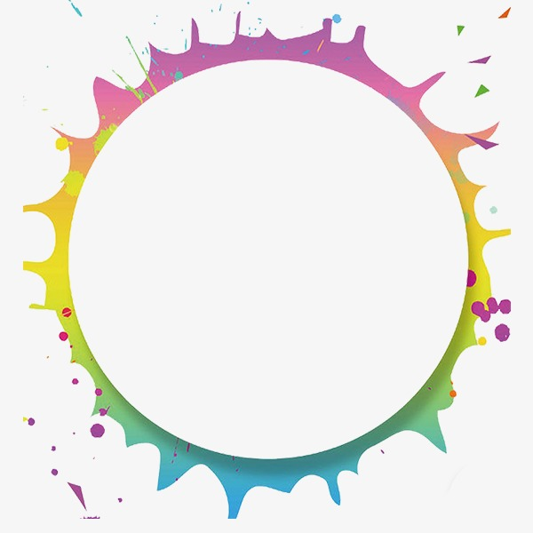 Frame clipart shape. Copywriter round hand painted