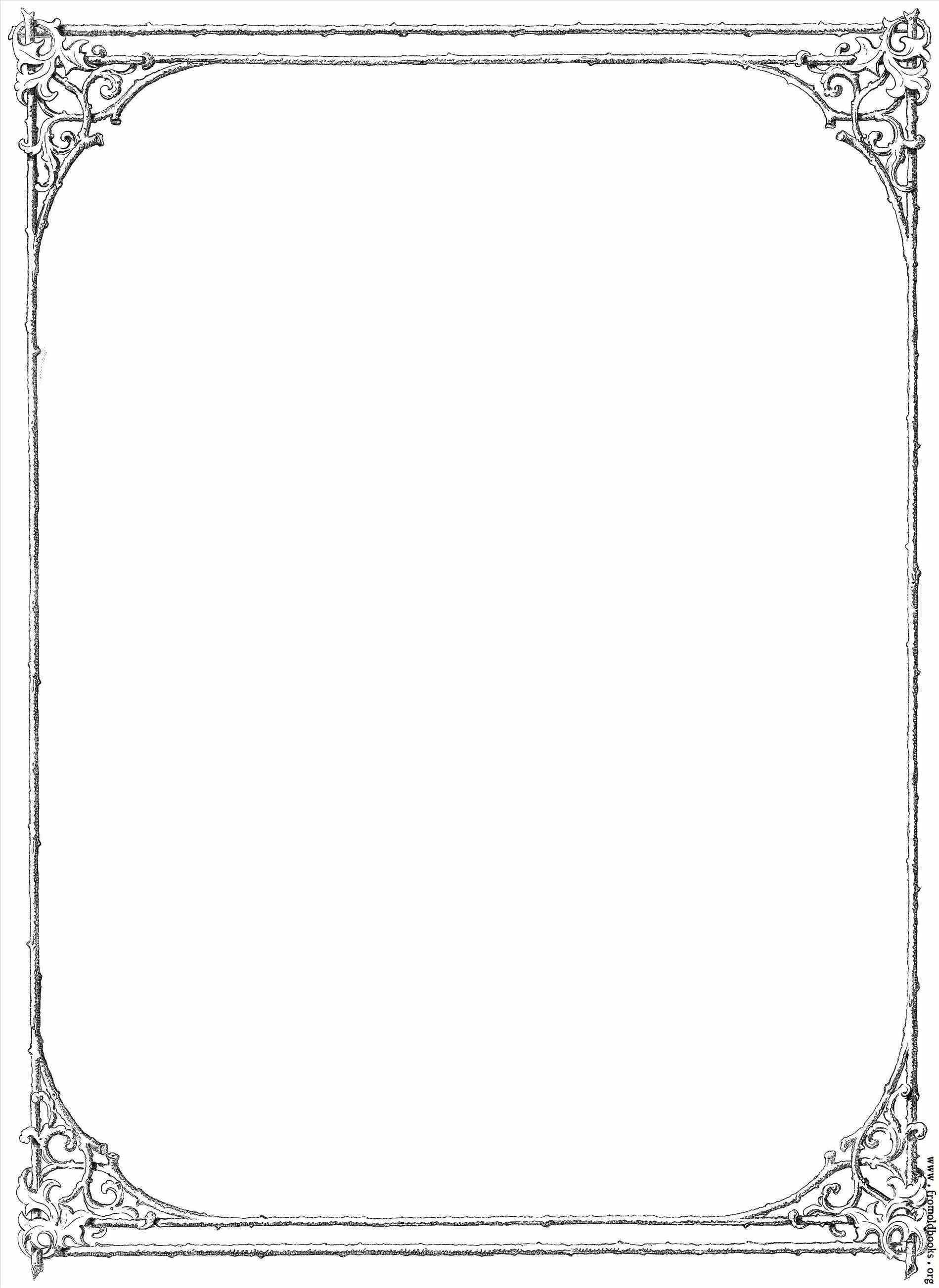 Frame clipart victorian. Border of twigs and