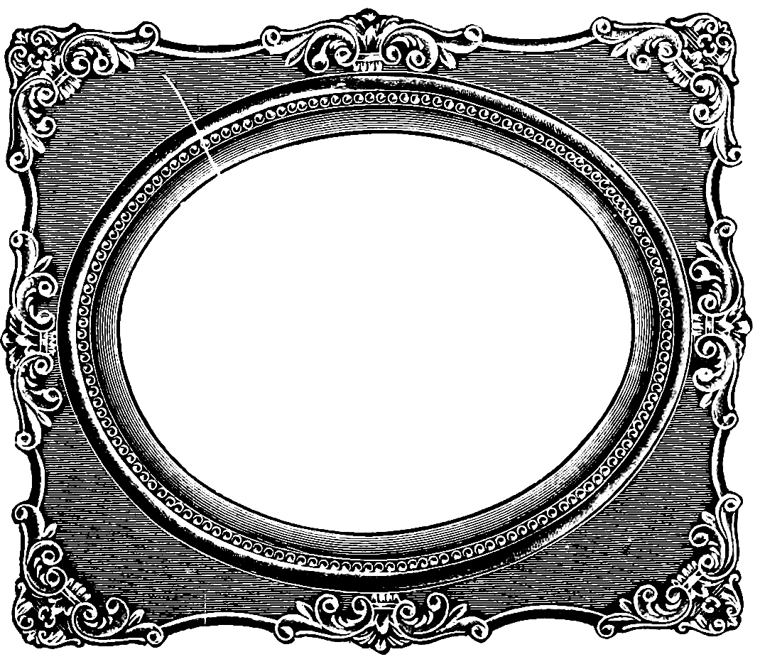 Frame clipart victorian. Oval panda free images