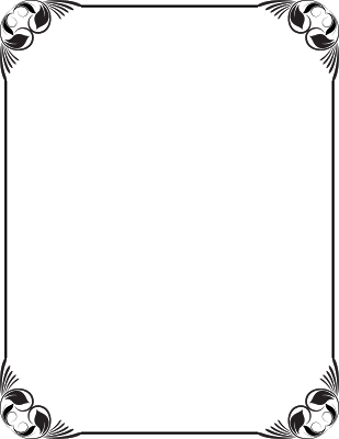 Frame design png. Black and white use