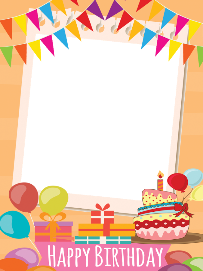 Frame happy birthday png. Group video collage android