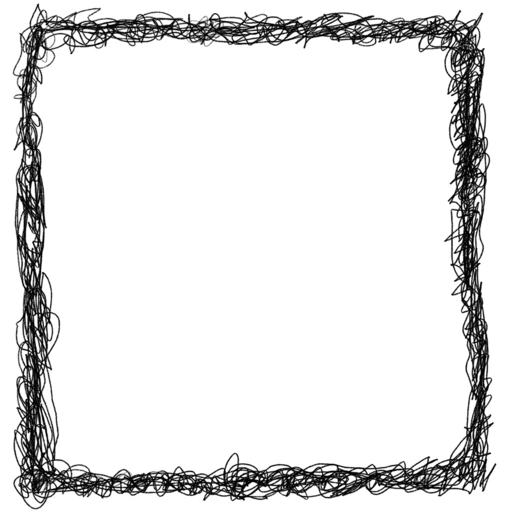 Frame png free. Square scribble transparent