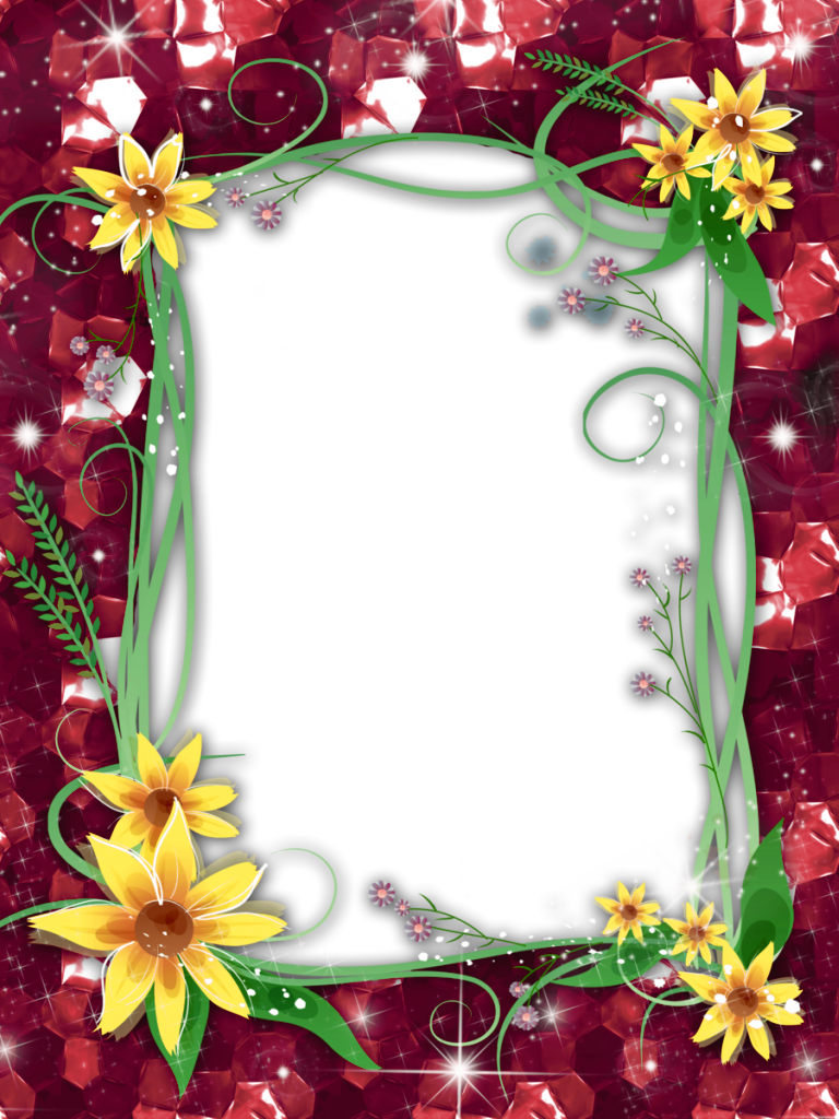 Frame png transparent. Flower images free download