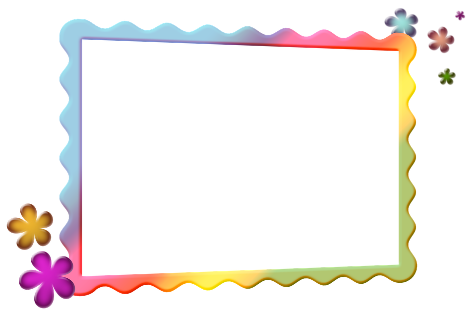 Photo frames png. Colorful transparent