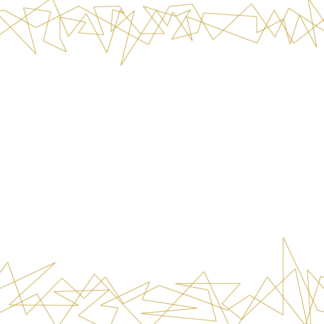 Vector gold line. Golden abstract frame graduation