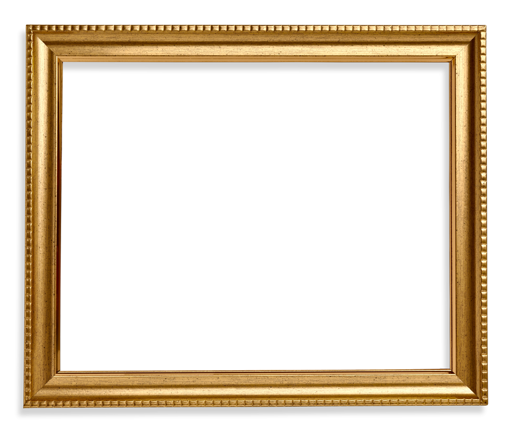 Frame wood png. Square gold