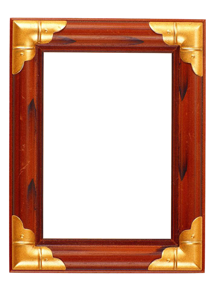 Frame wood png. Picture metal edge wooden