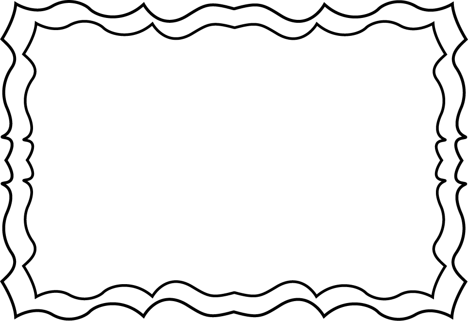 Frames and borders black and white png. Picture frame border simple