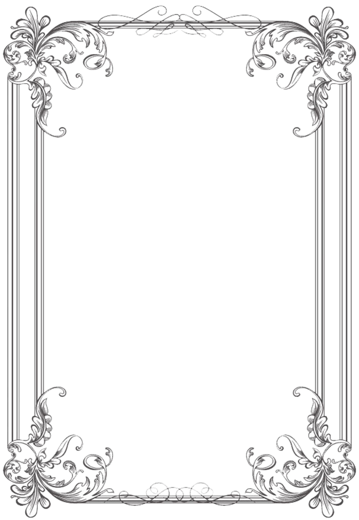 Frames and borders black and white png. Free clip art weddings