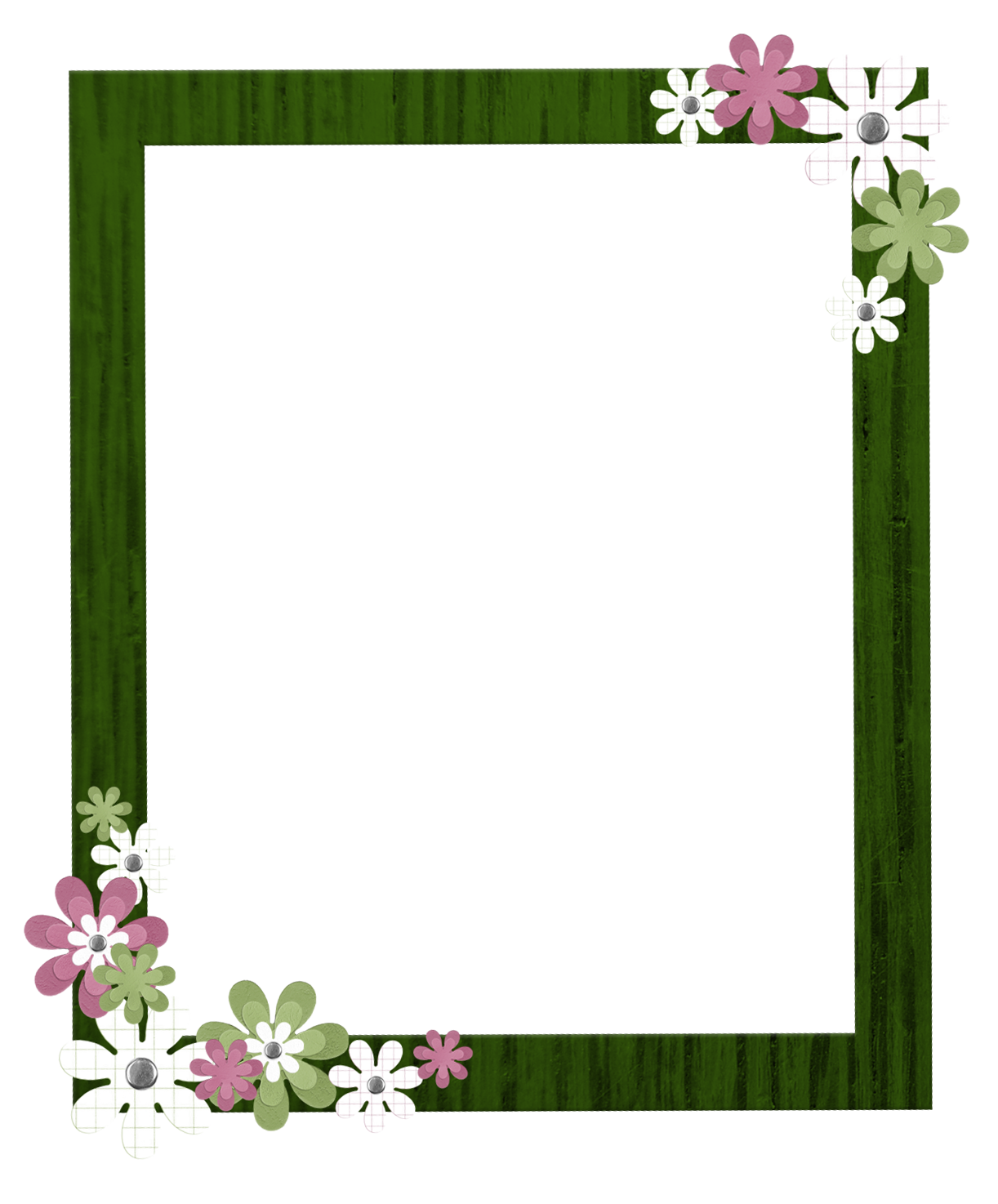 green picture frame png