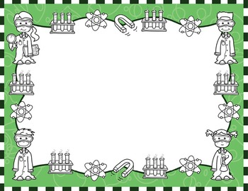 Frames clipart science. Kids borders set by