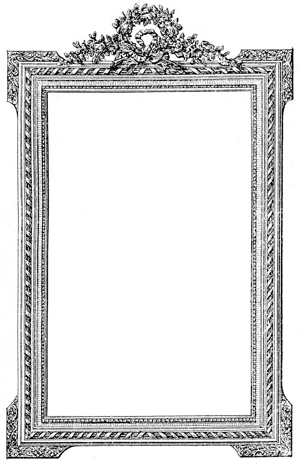 Frames clipart vintage. Antique french picture frame