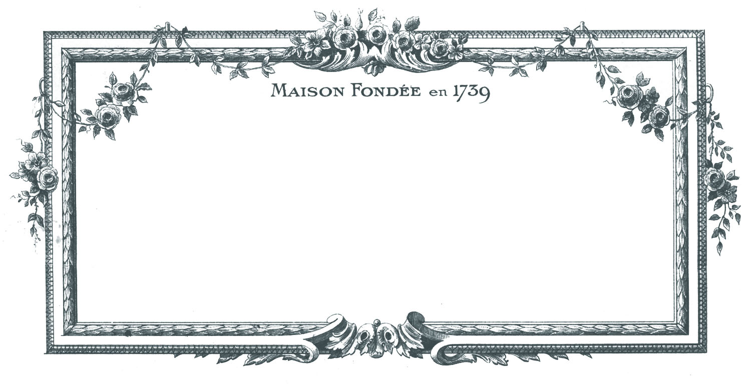 Frames clipart vintage. Clip art beautiful french