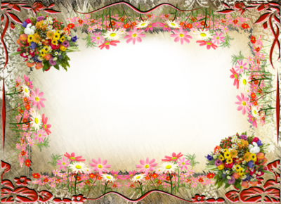 Frames for photoshop png. Frame psd flowers places