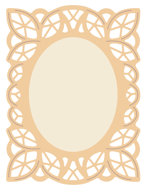 Frames svg silhouette cameo. Free cutting file lace