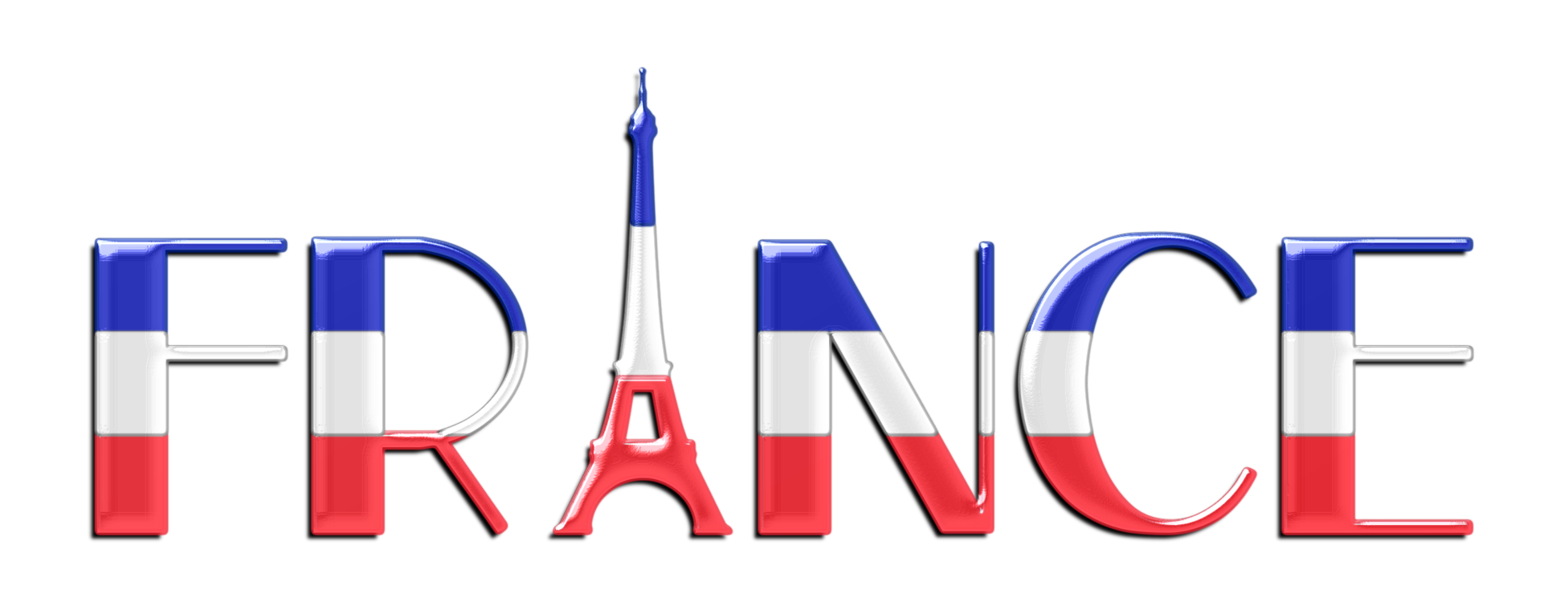 France clipart. National football team typography