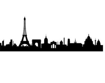 France clipart skyline. Paris silhouette at getdrawings