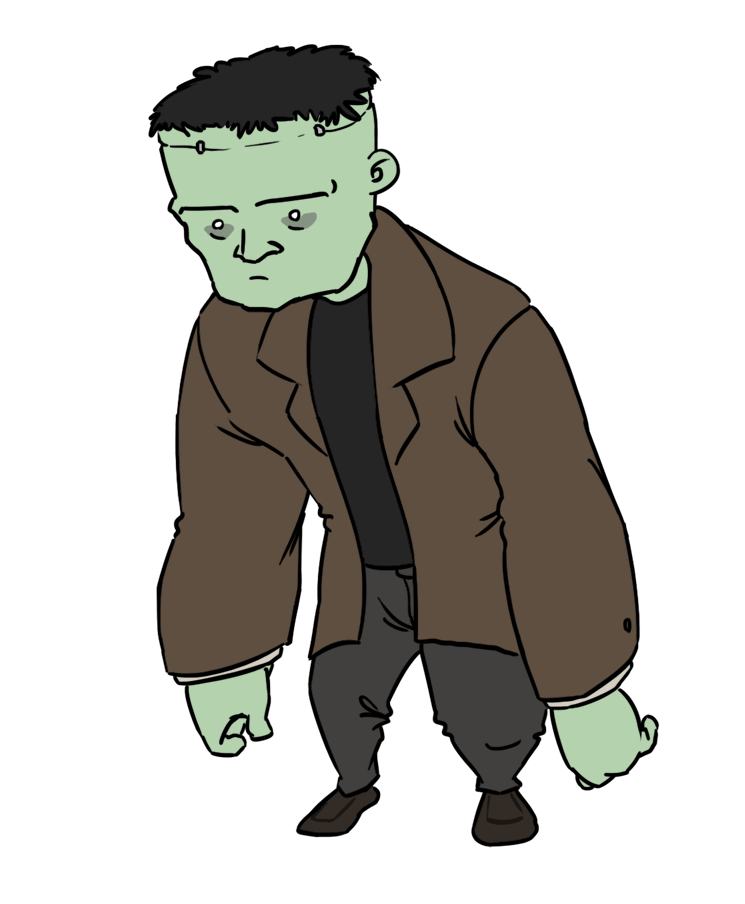 Frankenstein clipart cartoon frankenstein. Free chibi clip art