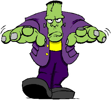Frankenstein clipart cartoon frankenstein. Free clip art bay
