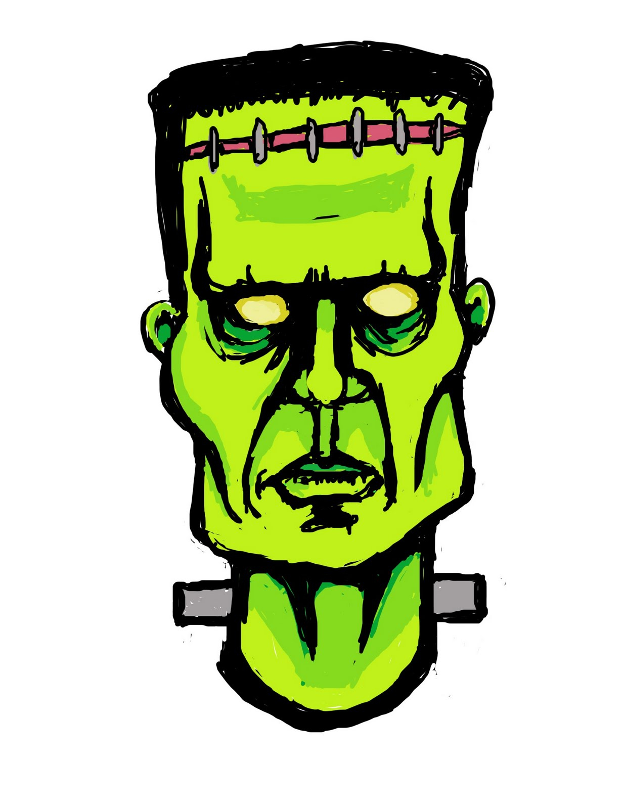 Frankenstein clipart cartoon frankenstein. Draw drawing sketch pencil