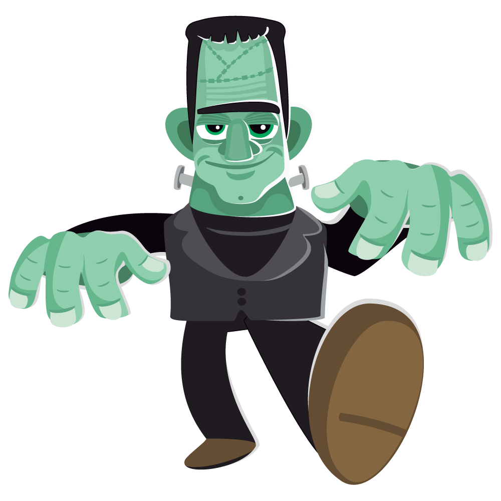 Free clipart page of. Stitches vector frankenstein picture free download