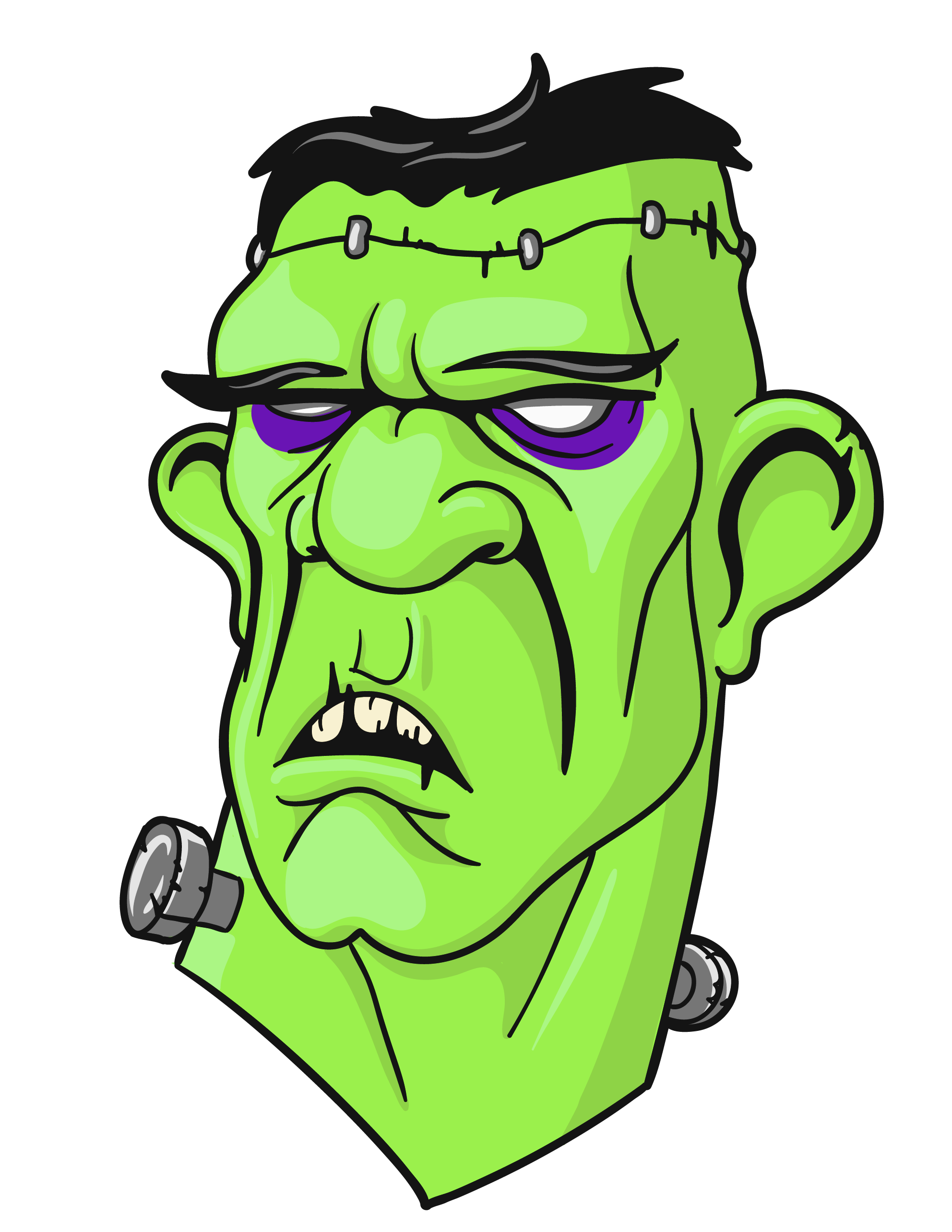 Head png clipart gallery. Stitches vector frankenstein picture library download